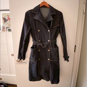 D'Jeans by Donna Degan Denim Belted Trench Coat 4
